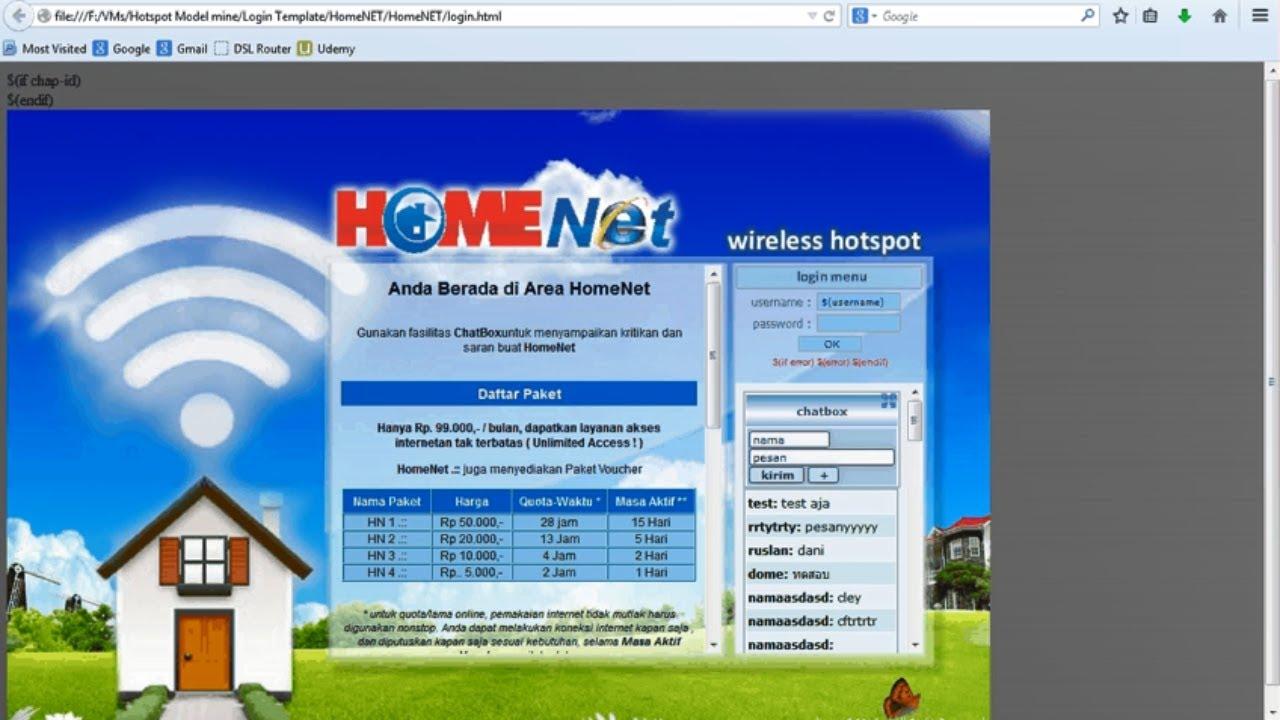 MikroTik - Hotspot Login Pages Customized Design template