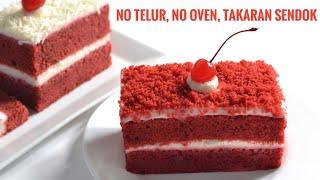 Download Kue Red Velvet Simple Takaran Sendok, Tanpa Mixer, Tanpa Telur, Tanpa Oven Dikukus Aja