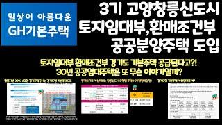 3기 고양창릉신도시 경기도 기본주택 토지임대부 환매조건…