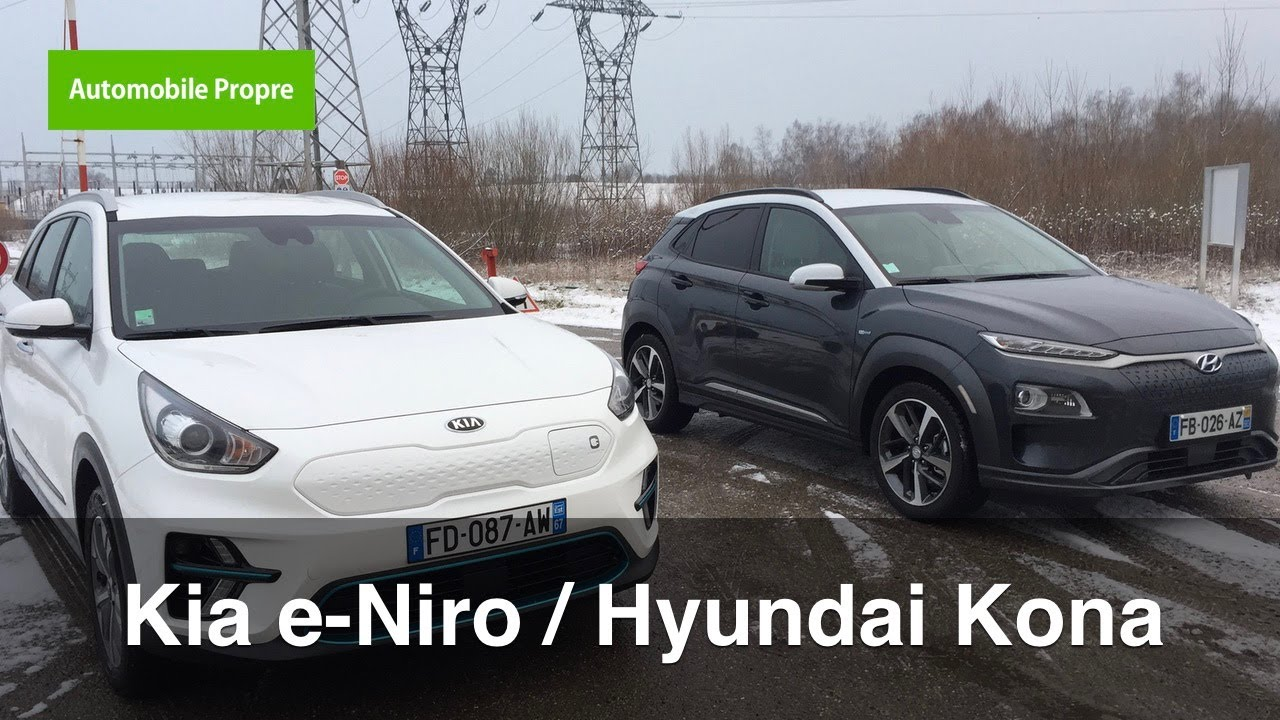 essai kia e niro hyundai kona lectrique youtube. Black Bedroom Furniture Sets. Home Design Ideas