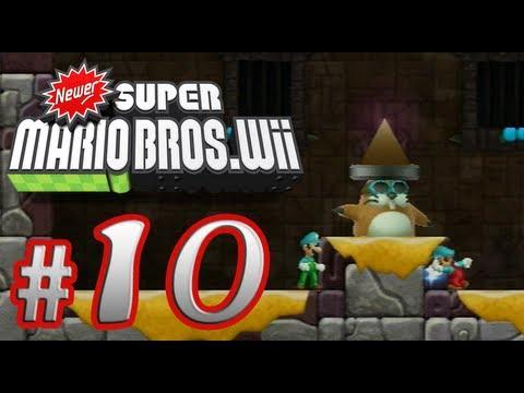 Newer Super Mario Bros. Wii - 100% Co-op Walkthrough Part 10