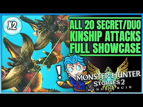 All 20 Secret & Special Kinship Attacks in Stories 2 - Kinship Showcase - Monster Hunter Stories 2!