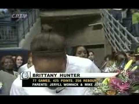 Brittany Hunter - Senior night