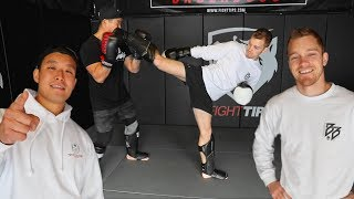 BART TRAINS AT FIGHT TIPS WITH SHANE FAZEN!