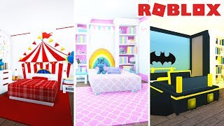 bloxburg bedroom boys roblox princess themed bed welcome build yt robux