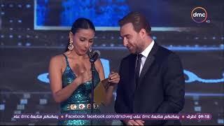 خفة دم احمد داوود وهو بيستلم جائزة افضل ممثل دور ثاني