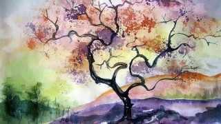 Осень Картины современных художников Акварель против карандаша(Осень.картины современных художников,акварель против карандаша,осенние рисунки современных художников..., 2015-10-15T13:09:25.000Z)