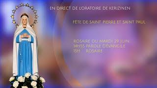 Rosaire du mardi 29 juin