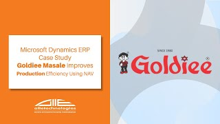 Microsoft Dynamics ERP | Case Study | Goldiee Masale Improves Production Efficiency Using NAV