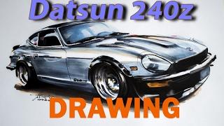Datsun 240z drawing