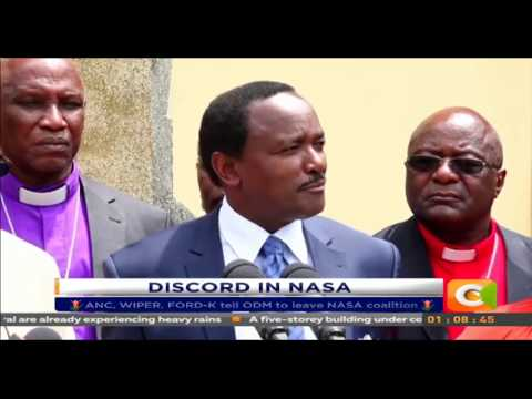 ANC, WIPER, FORD-K tell ODM to leave NASA coalition