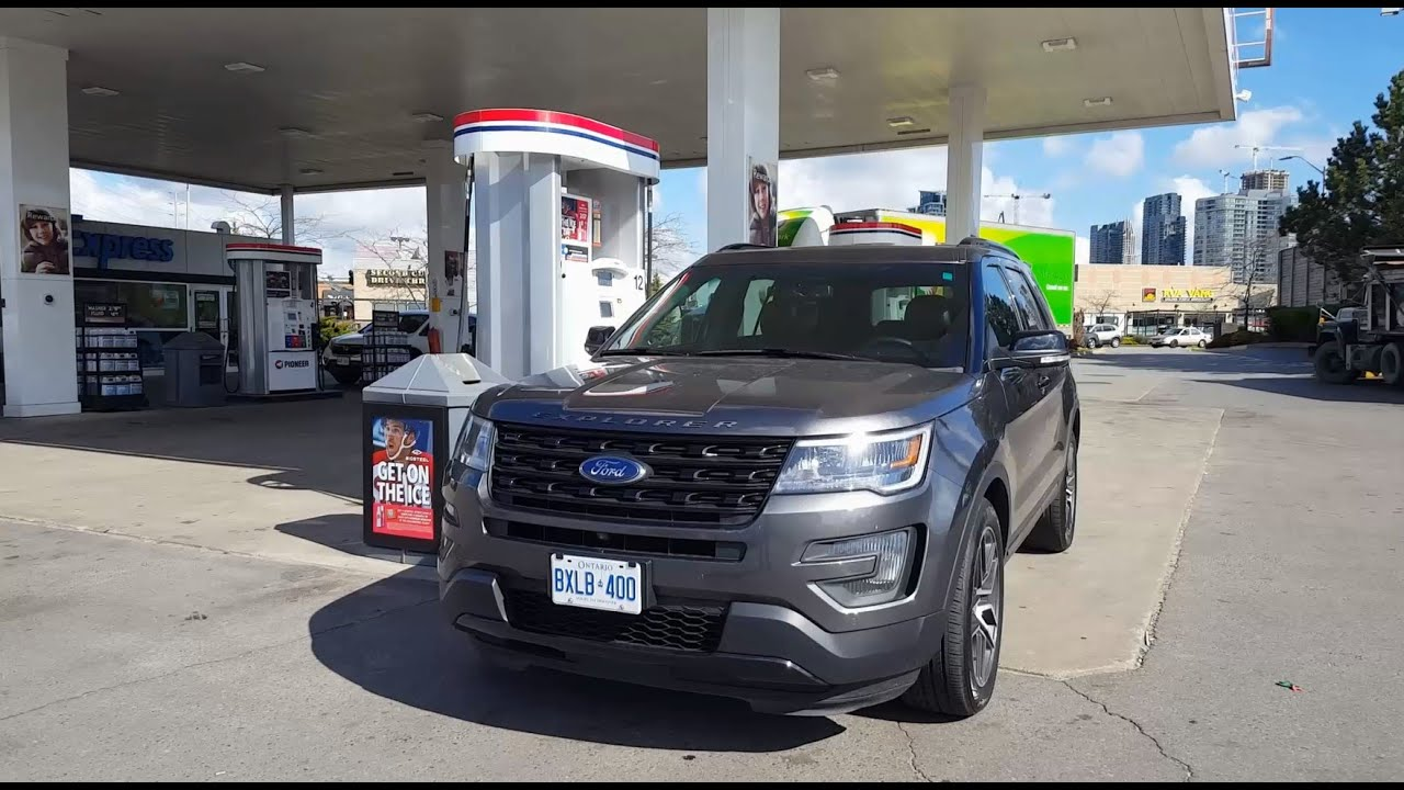 2016 ford explorer fuel economy test fill up costs. Black Bedroom Furniture Sets. Home Design Ideas