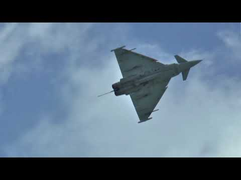 RAF Typhoon Fast Jet - Full Display - Dunsfold 2017