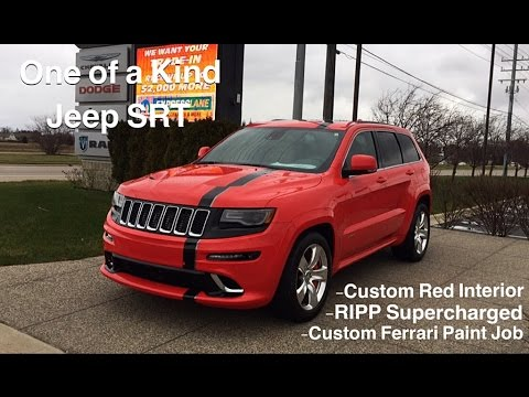Custom Jeep Grand Cherokee >> Badass Supercharged Jeep SRT with Ferrari Paint Job! - YouTube