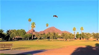 #4 'ROLL IN PARK'--SEE (HUGE PARACHUTE FLYING HIGH ABOVE PARK)!--LAST HALF ( FETCHES AND ROLLS)!