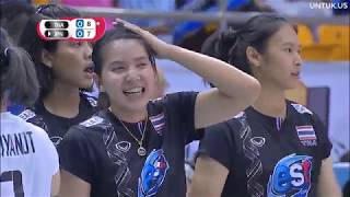 Volleyball SMM 6th AVC CUP FOR WOMEN 2018 - Set 1/4 - Thailand Vs Japan - 17092018