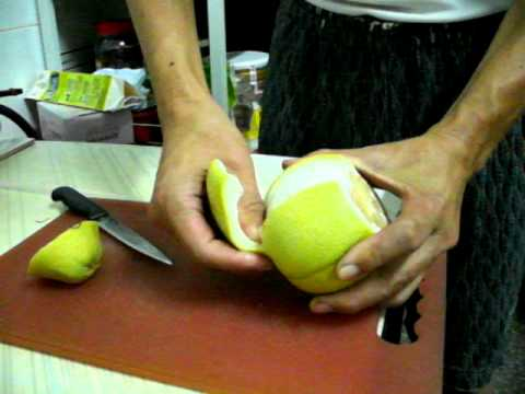 剝柚子 - YouTube