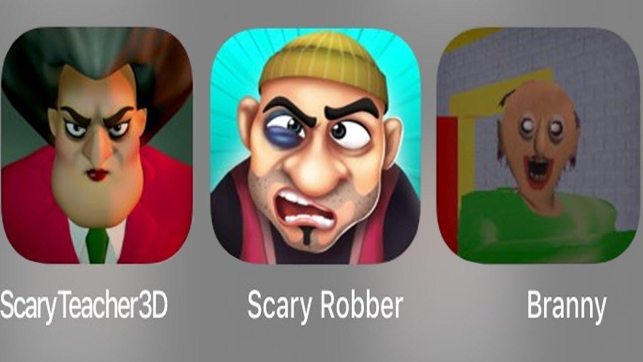 Scary Teacher 3D Vs Scary Robber Home Clash Vs Branny