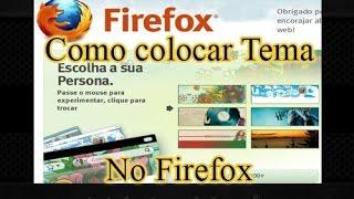 Como colocar tema no Firefox