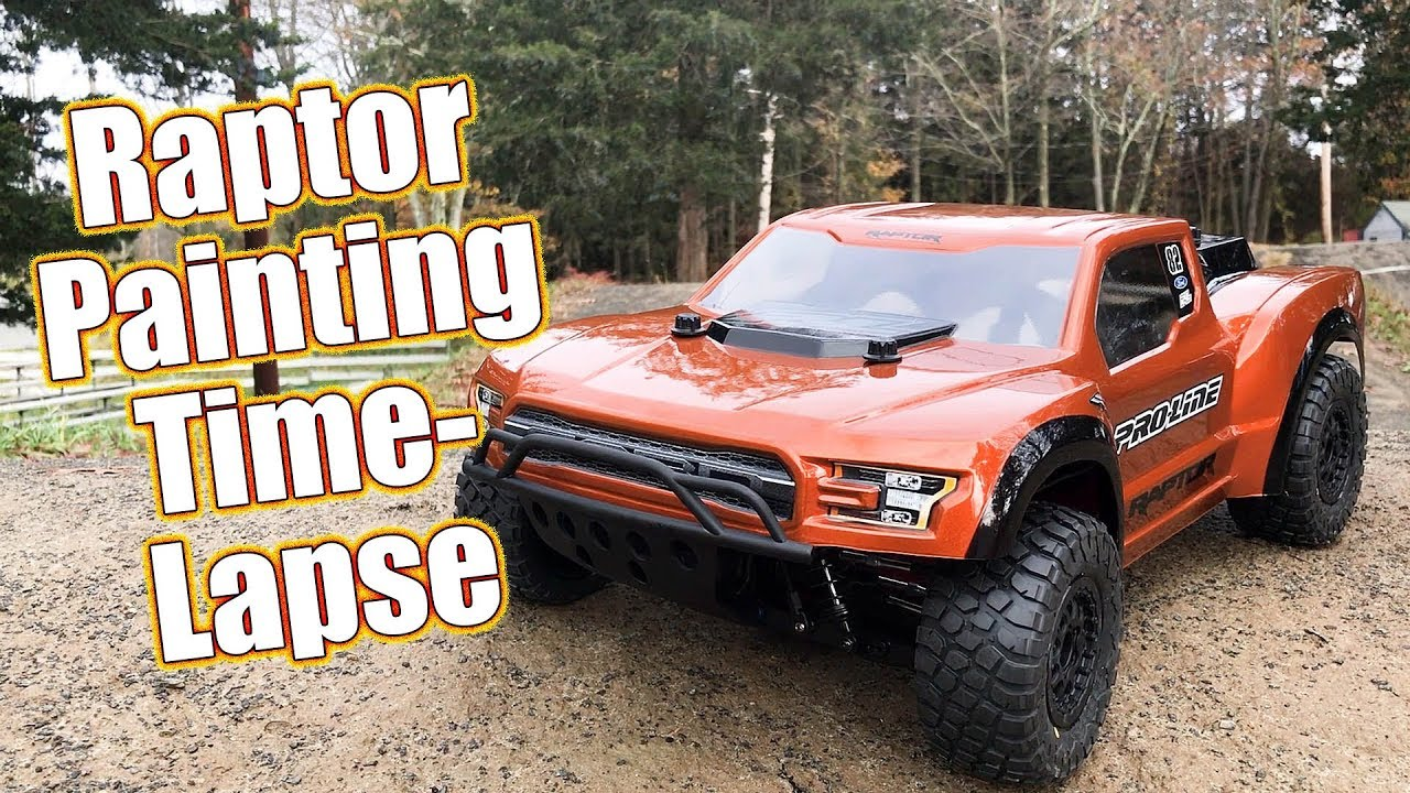 Spray Can Short Course Body Painting - Proline 2017 Ford F-150 Raptor  Desert Truck | RC Driver