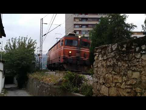 Electric locomotive 441-044 in Veles, Macedonia
