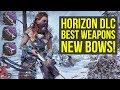 Horizon Zero Dawn Best Weapons INSANE BOWS  (Horizon Zero Dawn Frozen Wilds - Horizon Zero Dawn DLC)