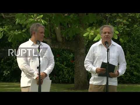 Colombia: OAS Sec-Gen., Colombian President blame Maduro for Venezuelan migration crisis