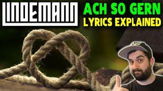 LINDEMANN - ACH SO GERN 🔥 English lyrics translation | German lyrics explained for language learning