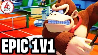 EPIC 1v1! Mario Tennis Aces Gameplay - SwitchForce Battle!
