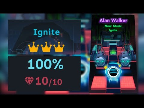 Rolling Sky Level 23 Ignite 100% Clear - All Gems & Crowns ft. Alan Walker | SHA