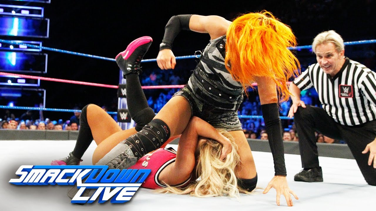 Becky Lynch vs. Carmella: SmackDown LIVE, Oct. 10, 2017 - YouTube