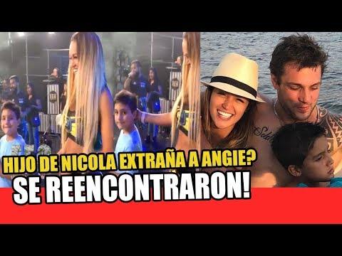 ANGIE ARIZAGA SE REENCONTRÓ CON EL HIJO DE NICOLA PORCELLA EN ESTO ES GUERRA
