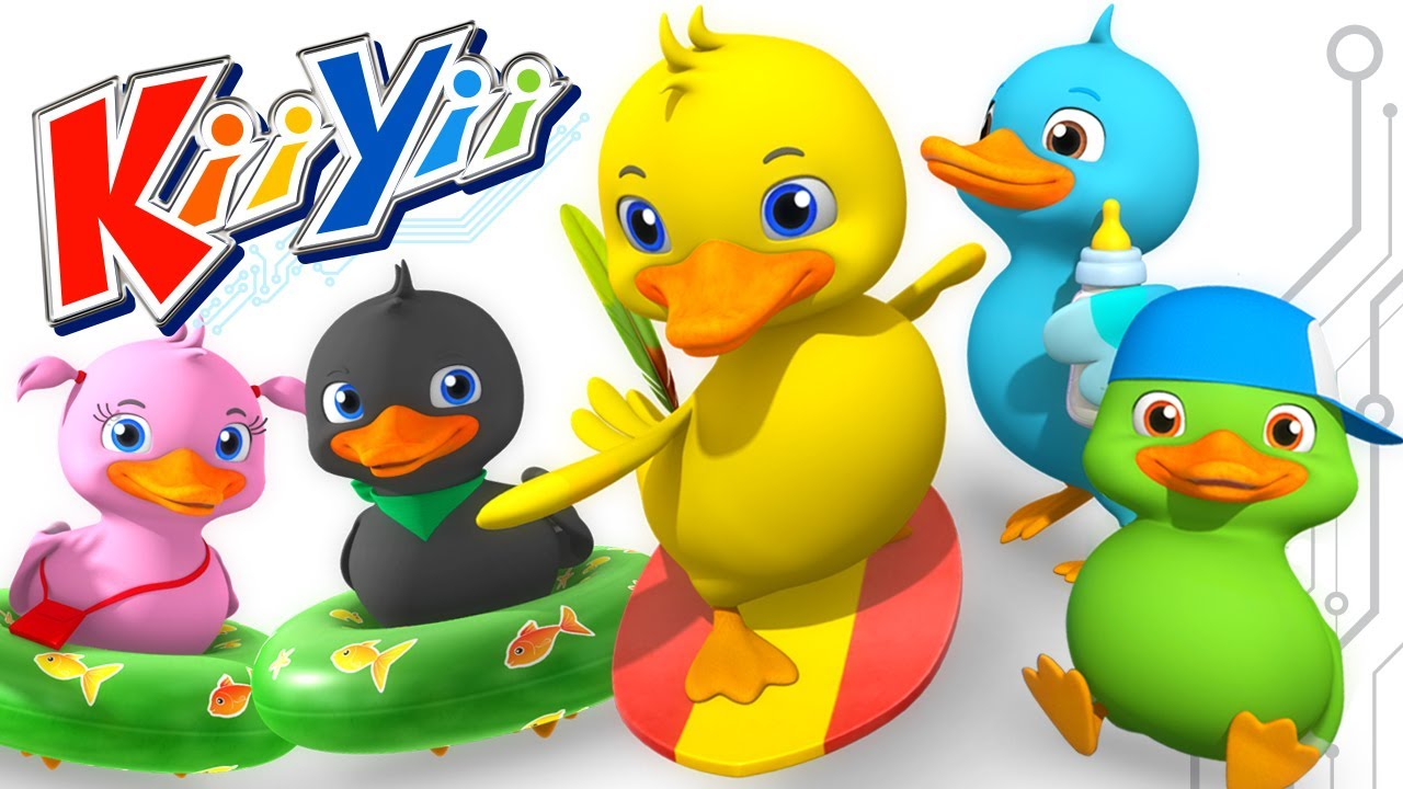 Five Little Ducks Nursery Rhymes By Kiiyii Abcs And