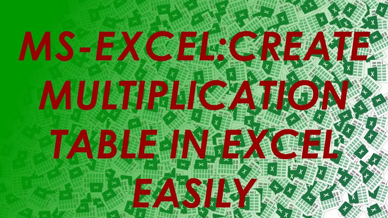 How to built excel multiplication table using mixed refrence how to built excel multiplication table using mixed refrence simplified nvjuhfo Choice Image