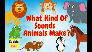 Animal Names And Sounds | Learn About Names Of Different Animals And Their Sounds | Bubble Kidz