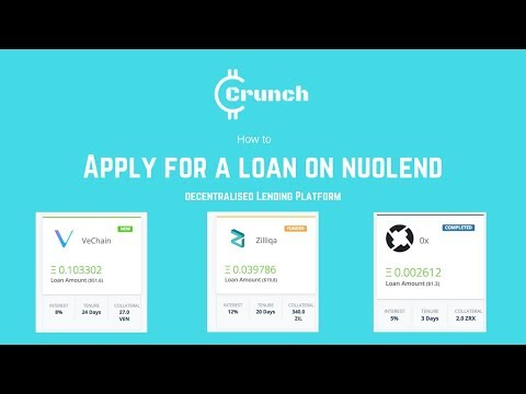 Asking for a Loan on Decentralised Lending Platform NuoLend