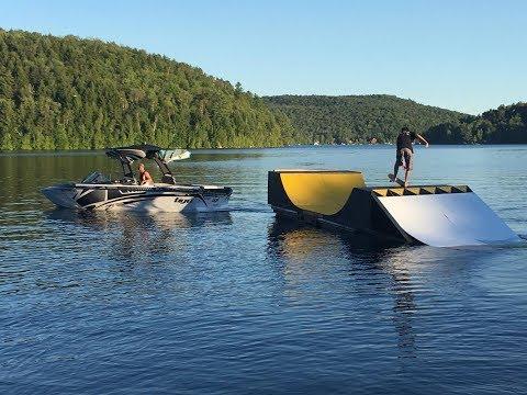 DÉFI HORS PISTE x REFINED Skateboards Floating Quarter Pipe
