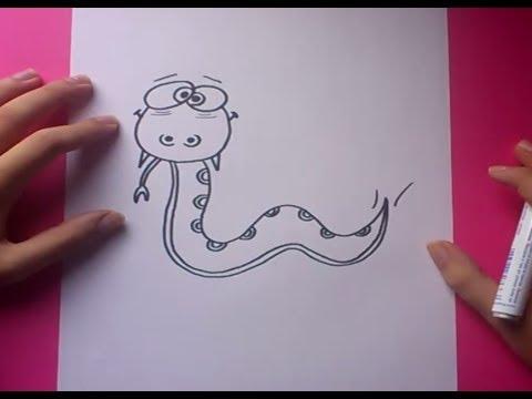 Como dibujar una serpiente paso a paso 5  How to draw a snake 5