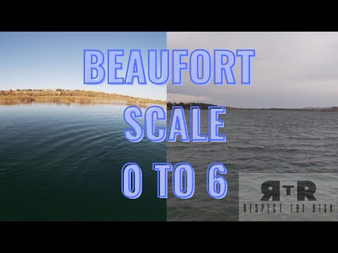 Beaufort Wind Force Scale 0 to 6 or 0 to 27 knots of Wind
