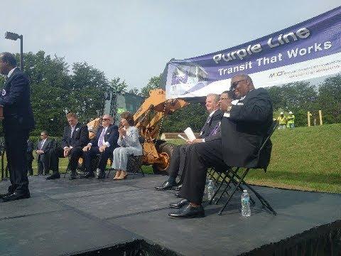 BBN with US Transportation Secretary Elaine Chao and Maryland Governor Larry Hogan #PurpleLine
