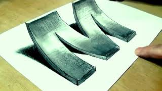 Drawing 3D Letter.