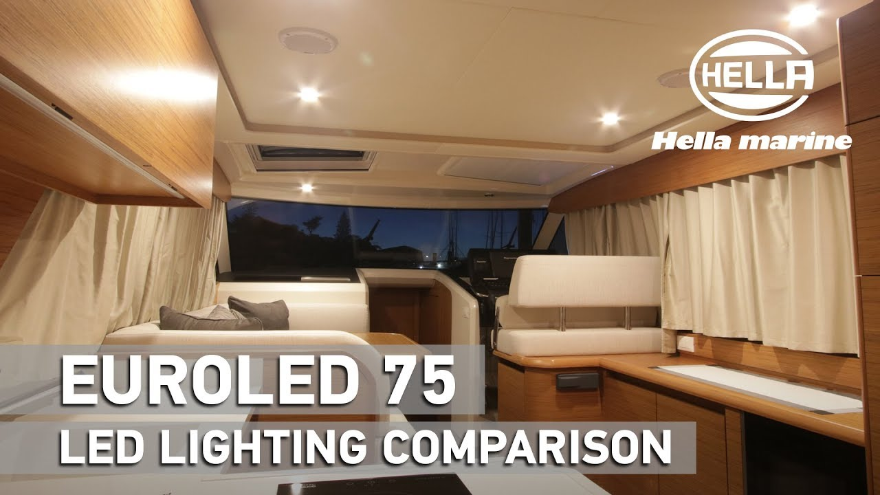 comparing led lights in a boat interior
