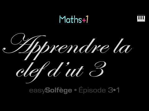 Apprendre la clef d'ut3 (easysolfege)