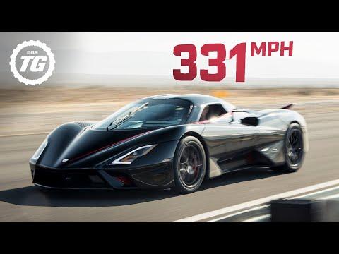 WORLD'S FASTEST ONBOARD: SSC Tuatara hits crazy 331mph top speed! | Top Gear - Видео онлайн