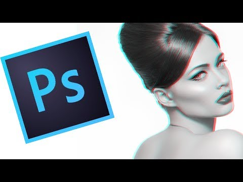 Blue & Red 3D Effect (Photoshop Tutorial )