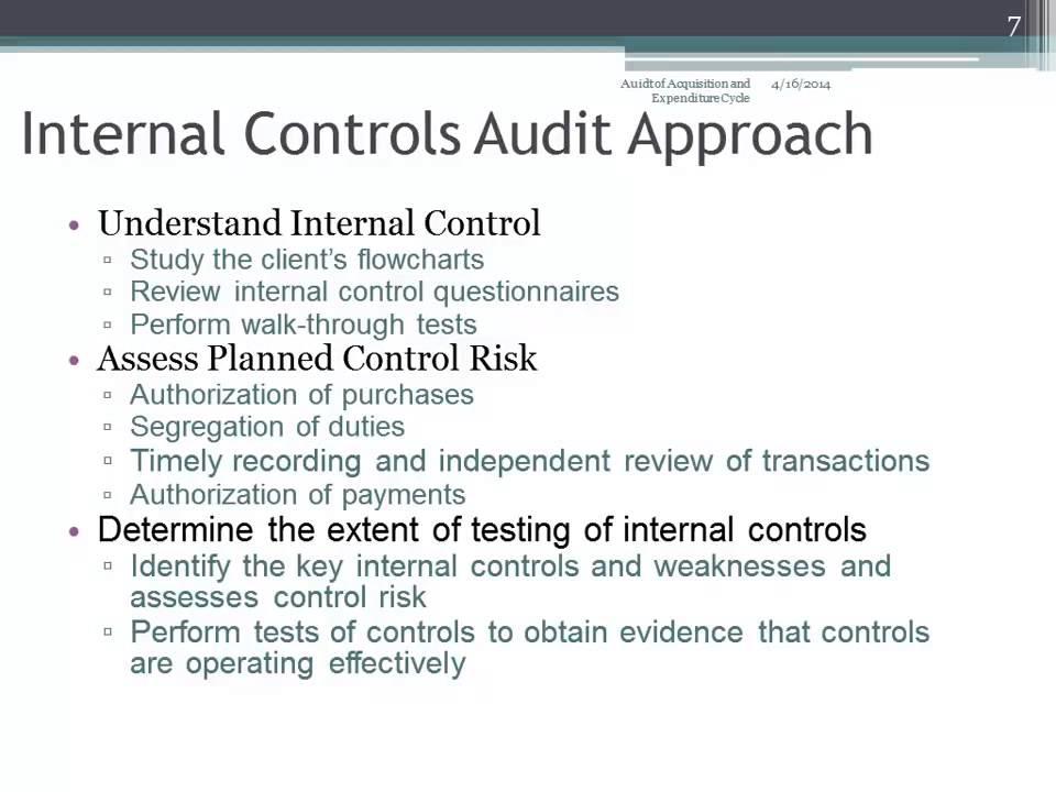 internal controls audit approach