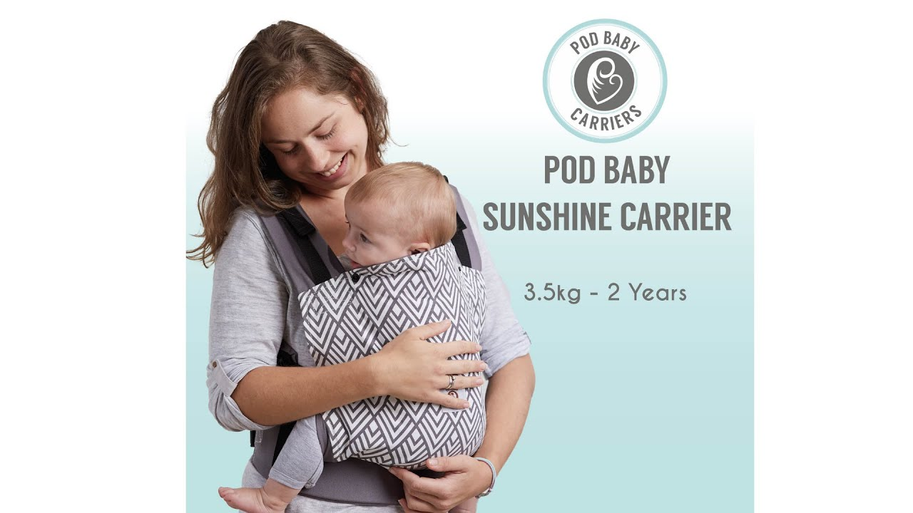 770fcd8e286 How to use the Pod baby Sunshine Carrier - YouTube