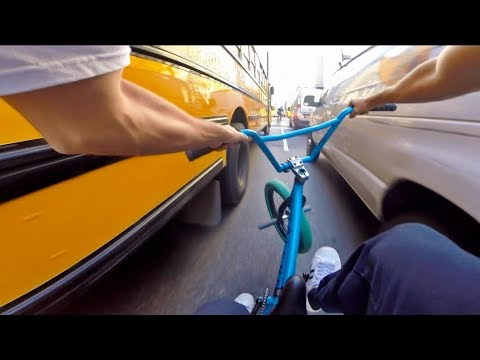 BMX in NYC Rush Hour Traffic