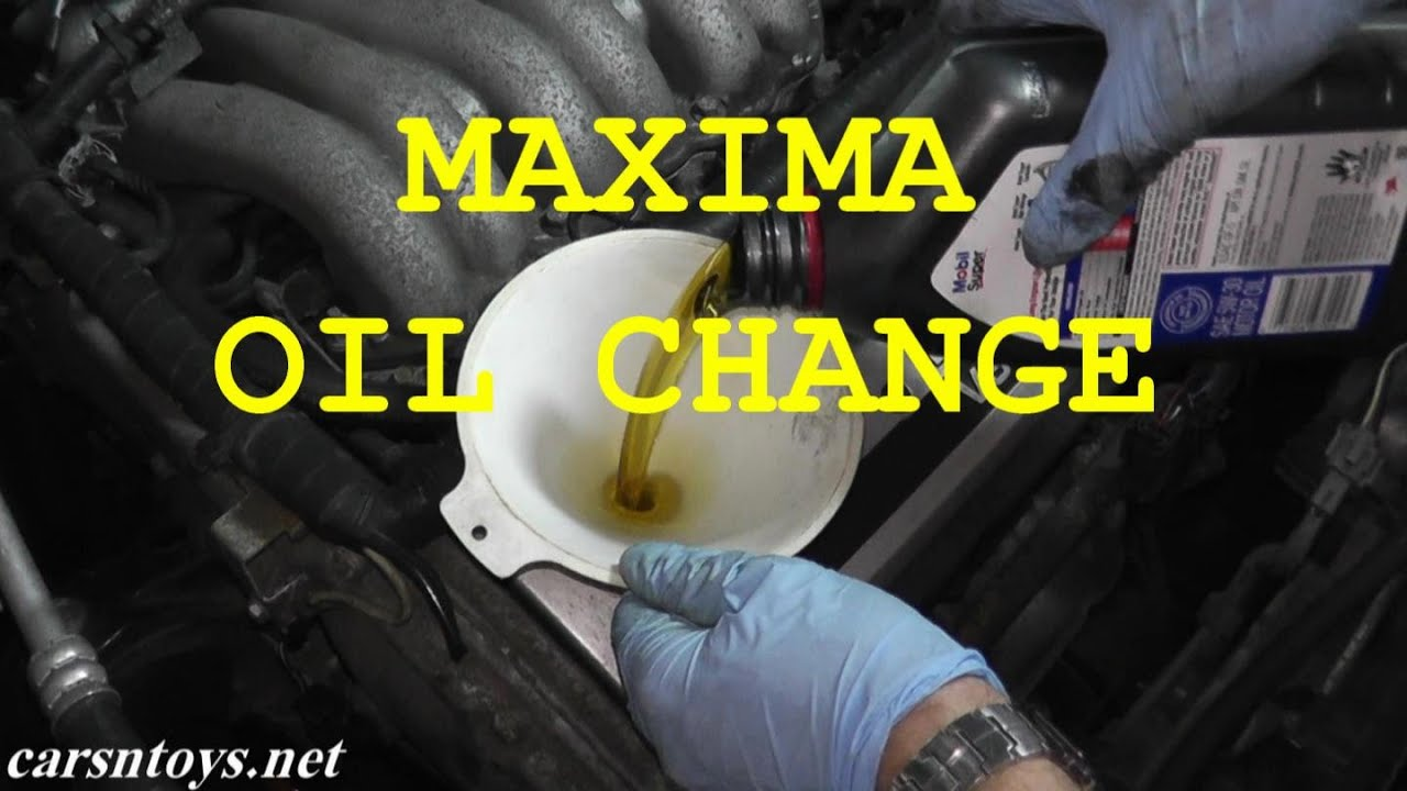 Nissan Maxima: Changing engine oil filter