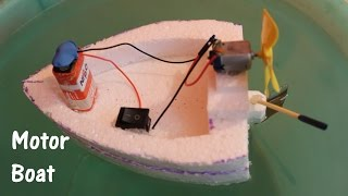 How to make an Electric Boat using Thermocol and DC motor